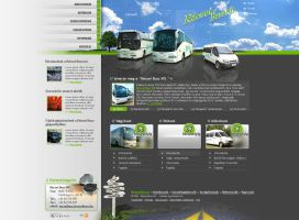 Recsey Bus website layout by OakmE