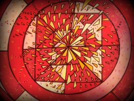 square in a cercle red explosion by santosam81