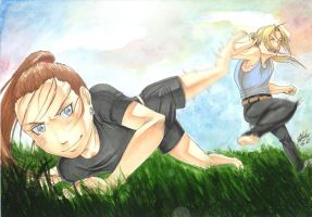 - Combat training - by Pure-Ivory