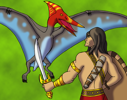 Conan and the Pterosaur by BrandonSPilcher