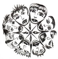 Faces in a Circle by ameliarose