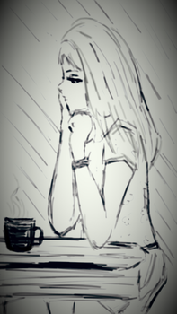 Doodling deep thoughts..... (digital original) by starmoon2208
