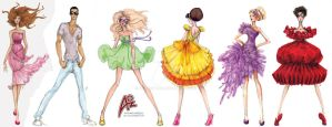 AO Fashion Sketches by AOZcouture