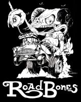 Road bones T shirt by FastEddieJr