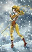 Cheetara in the snow by IvannaMatilla