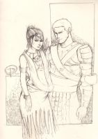 DAO: Morrigan and Edric by ximena07
