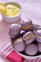 Lavender lemon macarons by kupenska