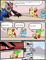 Pokemon X and Y LOL Zygarde type meeting by AndyKoopa