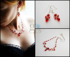 Red Jewelry Set by GemDeDude