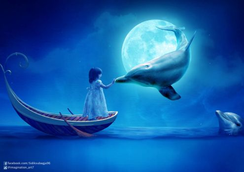 Dream Of Dancing With Dolphins by SidikSubagja