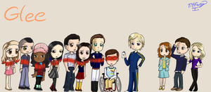 Glee promo Chibis by iTiffanyBlue