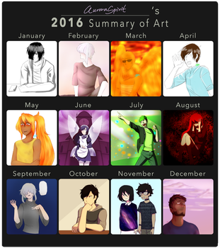 2016 Art Summary! by AuroraSpirit