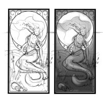 Transformation Art Nouveau Mermaid by PookiePony