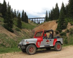 Jurassic Park Jeep 2010 by Boomerjinks