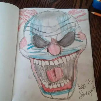 Evil Clown 1 by Jess Sargent by DrairiesFantasyArt