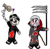 Hidan and kakuzu by Cubed1