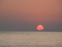 Sunset over the Black Sea by Eriseite