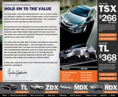 Acura Dealer Landing Page by xstortionist