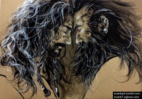 Thorin and Dwalin (2) by evankart