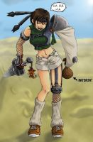 Yuffie The Bandit - Color by BachiGaAtaru