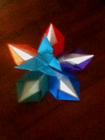 Origami Flower and Butterfly by The-Veiled-Android