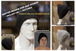 FREEBIE- Winter Beanie for G2M/F G3F/M + OBJ + TEX by HeavenSkies