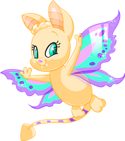 Xorreo the Faerie Korbat by Tibby-Kitty