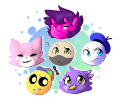 Planet Dolan characters by Lazyleaf-Dave