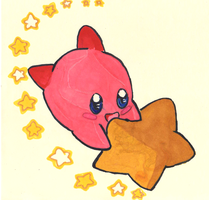 Kirby time Coloured by Tsuki-SoraRuki