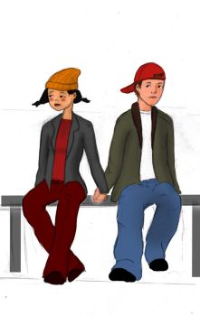 TJ and Spinelli doodle by psychepirate