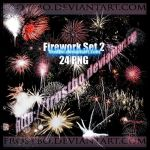 Firework PNG  Set 2 by FrostBo