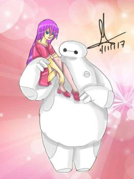 Shaye and Baymax  by Lacie-BunCat