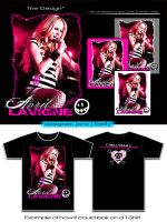 Avril Lavigne T-Shirt Design 5 by blue-firefly-jenn
