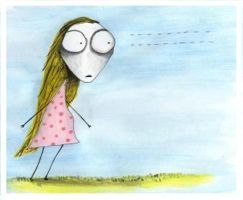 Tim Burton's STARING GIRL by numb-synapse