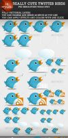 Cute Twitter Birds 1.1 by ConstantinPotorac
