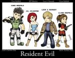 Resident Evil main Characters by redfield37