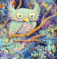 Euphemia the Seafoam Owl by The-autumnwind