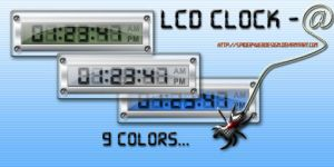 LCD Clock: AveDesk,AveScripter by spider4webdesign