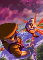 MAJIN MARIO the RED KAMEHAMEHA by TheGreyNinja
