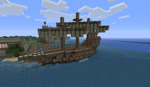Minecraft Ship at Port by Myrik-Tylo