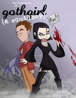 Gothgirl and Squidboy by Formidabler