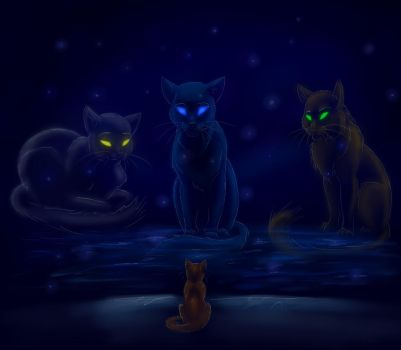 Consulting With Starclan by JazzTheTiger