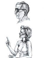 Hollywood Ending Sketches by JRTribe