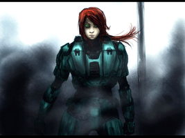 Red Vs. Blue: FREELANCER Agent:CAROLINA by Requiemachina
