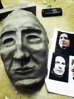 Snape Mask WIP by Allieasha