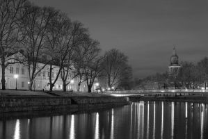 Cathedral at river by eswendel