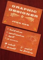 FREE Retro Business Card by NatalyBirch