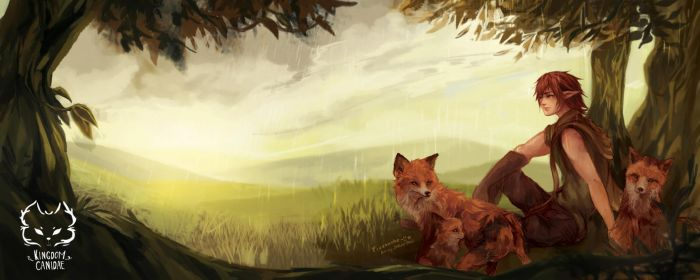 Kingdom Canidae: Red Fox. by Fiveonthe