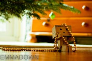 'Whoops, I'm all tangled up' - Danbo Series by oEmmanuele