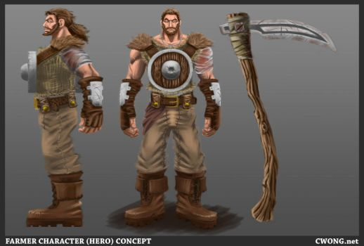 Farmer character concept by CWongArt